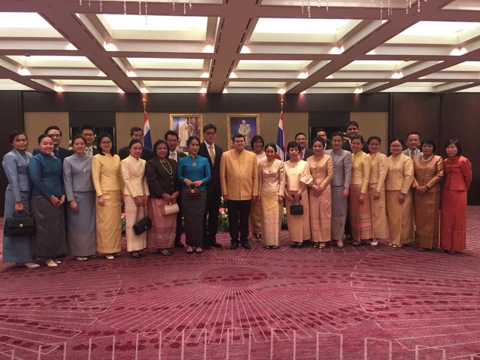 อัครราชทูตที่ปรึกษา (ฝ่ายแรงงาน) ร่วมงานวันชาติที่คณะผู้แทนถาวรไทยประจำสหประชาชาติ ณ นครเจนีวา และคณะผู้แทนถาวรไทยประจำองค์การการค้าโลกและองค์การทรัพย์สินทางปัญญาโลกจัดขึ้น ณ โรงแรม Kempinski